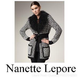 """Nanette Lepore """"Reisling"""" Sweater Coat"""